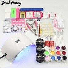 nail UV LED Lamp 12 pure Color soak off uv Gel nail base gel top coat gel nail polish kit Manicure nail art tools Sets & Kits