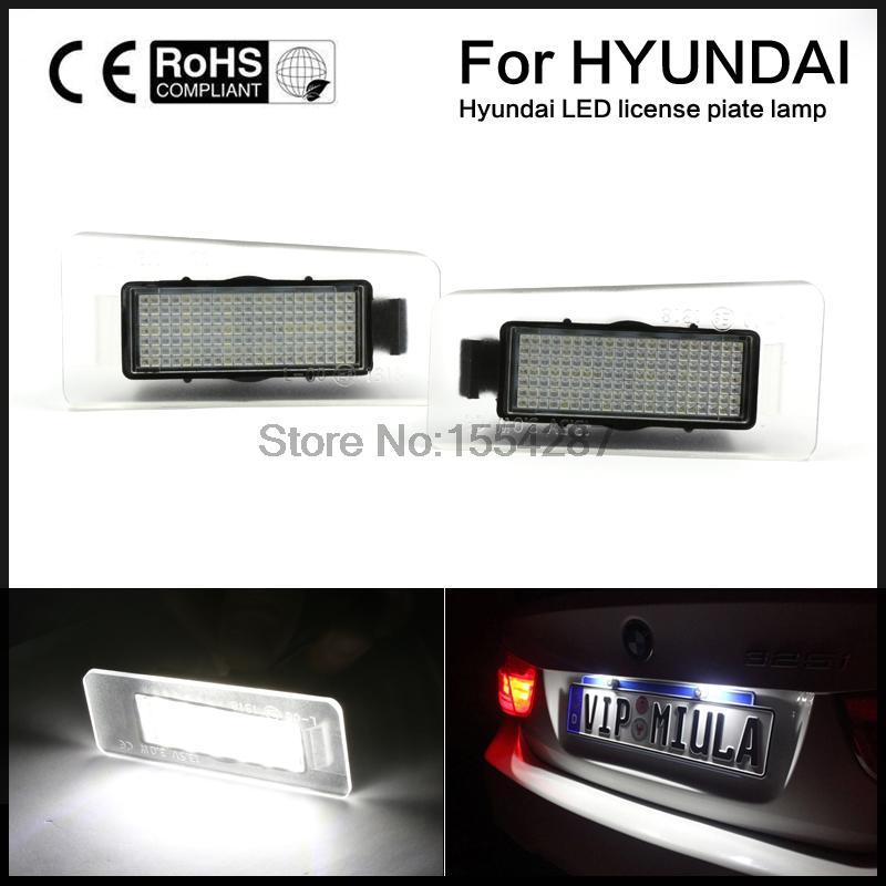 2x Error Free white LED License number Plate Light For Hyundai Elantra Coupe SIII I20 I30 Kia Forte CW Kombi