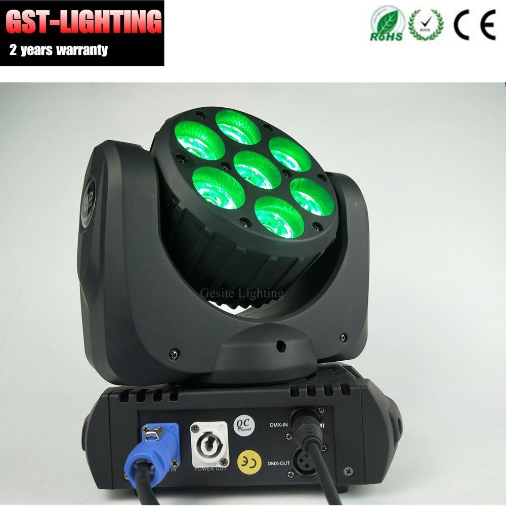 Rgbw 4in1 Mini luz da cabeça em movimento 7 pcs 12 w
