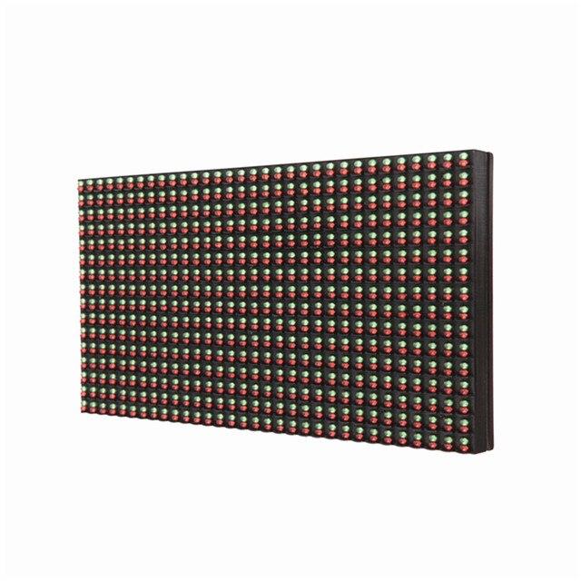 P10 светодиодный дисплей модуль 32*16 pixe открытый водонепроницаемый RG двойной цвет светодиодные панели светодиодная вывеска напольный экран billboard