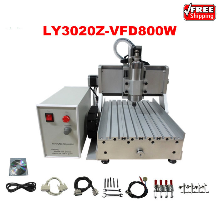 LY 3020Z-VFD800W 3axis CNC router already assembled carving machine 4axis cnc router 3040z vfd800w engraving machine cnc carving machine cnc frame assembled