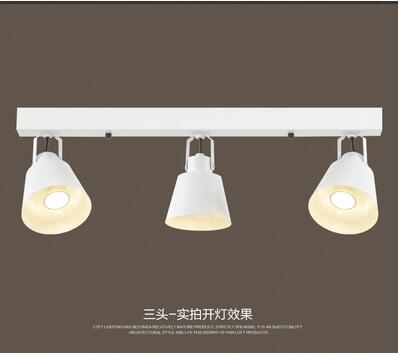 Personalized 1-5heads Black/white Ceiling lamp Track LED Ceiling Light iron clothing store library bar creative luminaire GY248 personalized 1 5heads black white