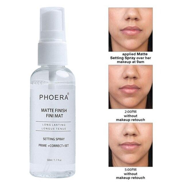 PHOERA 50ML Matte Face Primer Makeup Transparent Oil Control Natural Long Lasting Make Up Moisturizing Spray maquillaje TSLM1 1