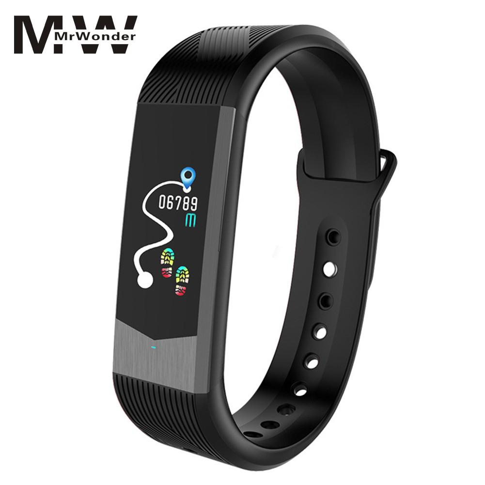 цена на mrwonder IPS Color Screen Smart Watch Blood Pressure Heart Rate Monitor Sports Fitness Tracker AAP Message notification SAN0