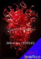 LR017 Индивидуальные Декоративные Красного Стекла Китайские Люстры