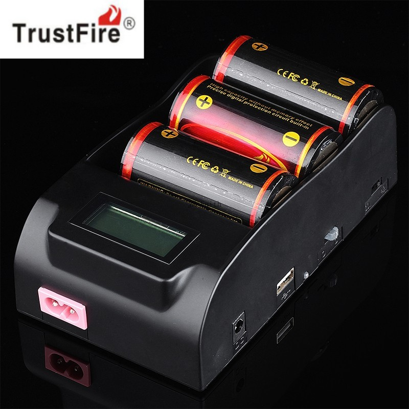 TrustFire TR-008 3.0V 4.2V 18650 25500 26650 26700 32650 Battery Charger with LCD Display Screen цены
