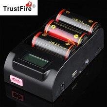 TrustFire TR-008 3.0 V 4.2 V 18650 25500 26650 26700 32650 Cargador de Batería con Pantalla LCD