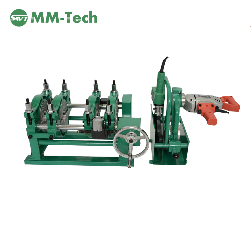 SWT-200/50MS  Manual 50 To 200mm 2 Clamp Hand Push HDPE Butt Fusion Welding Jointing Machine