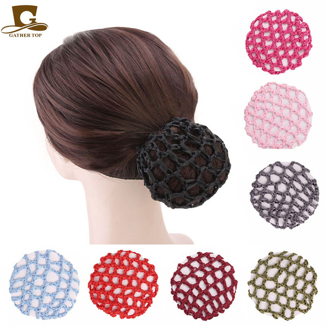 Fashion Elastic Crochet Hair Snood Bun Cover Hairnet Ballet Dance