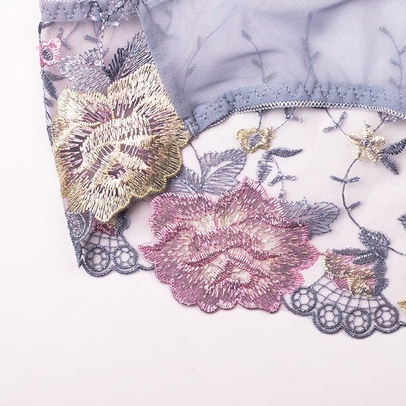 Wasteheart 2018 New Women Fashion Soft Trim Lace Embroidery Cotton Bow Low Waist Women Panties Women Underwear Lingerie