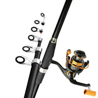 High Carbon Fiber Boat/Raft Rod 2.1 3.6m Telescopic Fishing Pole Portable Spinning Fishing Cane Short Section Rock Fishing Pesca