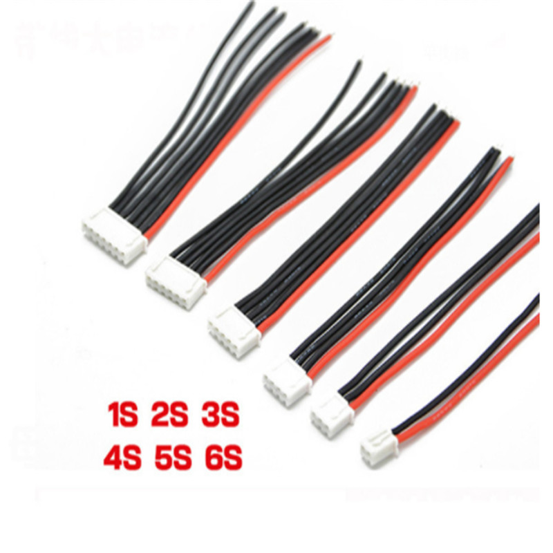 5pcs/lot 2S 3S 4S 5S 6S Balance Lipo Battery Charger Cable Wire Lead Extension New Charged Cable Lead Cord image
