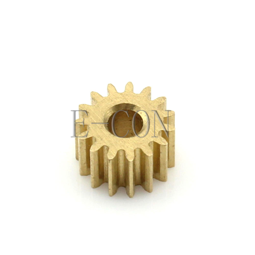 0.5M16T 3mm//4mm Bore Hole 16 Teeth 10mm Width 0.5 Module Motor Metal Spur Gear