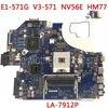 KEFU LA-7912P płyta nadaje się do ACER Aspire E1-571G V3-571G V3-571 płyta główna Q5WV1 LA-7912P HM77 PGA989 Test
