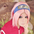 NARUTO Sakura Haruno Pink Short Cosplay Costume Wig Straight Full Hair Wigs Free Shipping
