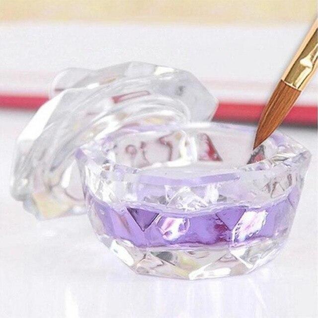 Caliente 1 Pc hermoso cristal arte de uñas Dappen plato taza acrílico líquido maquillaje polvo uñas estilismo herramientas equipo herramientas