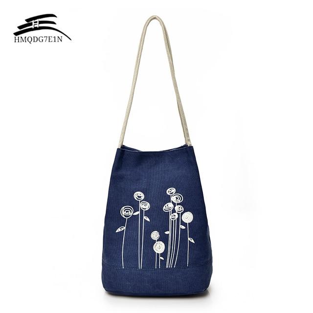 Top Quality Women Shoulder Handbag Female Canvas Tote Bag Fl Print Beach Bags For S Cute