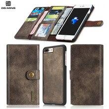 Человек 3 Раза Бумажник для iPhone 7 7 Plus 6 6s Плюс 6 Плюс 2 в 1 Люкс Натуральная Кожа Case для iPhone7 iPhon6 Съемная Панель крышка