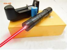 high power 50000mw 650nm Mini red laser pointer/focusable green laser torch burn matches,pop balloon.+charger+gift box 1 pcs
