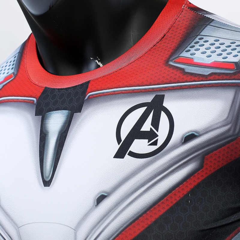 Мстители 4 эндигра Квантовая война 3D печатных футболки обтягивающая мужская кофта Железный мужской костюм для косплея топы с длинными рукавами для мужчин