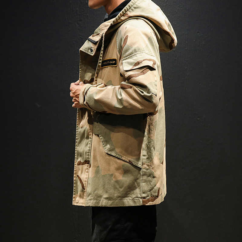 Mężczyźni wojskowa kurtka do kamuflażu armia odzież taktyczna Multicam mężczyzna Erkek Ceket wiatrówki moda Chaquet Safari Hoode kurtka 2019 koreański styl ubrania 5XL