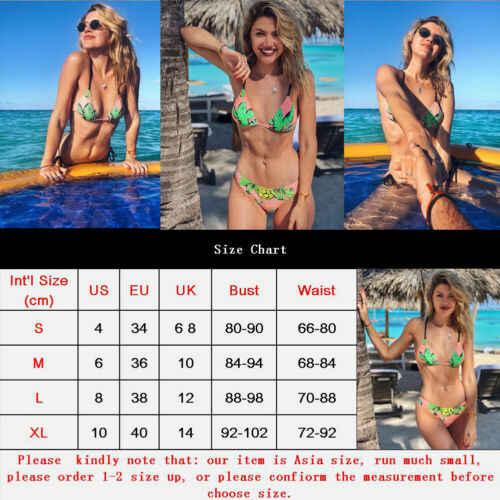 2019 أنيق حار بيع النساء ضمادة طباعة ادفع الهاتفي مبطن مجموعة البكيني سيدة الصيف ملابس السباحة شاطئ الاستحمام ارتداءها S-XL