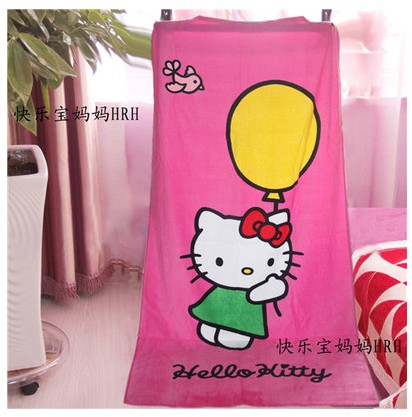 Lovely Microfiber Bath Towels Hello Kitty Absorbent pool swim travel Beach Towel for Adults baby kids poncho robe 155*75cm