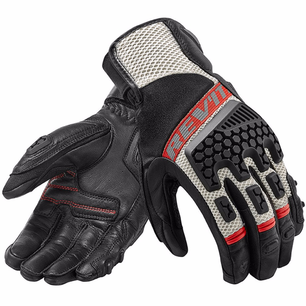 New 2018 Revit Sand 3 Black Red Motorcycle Trails Adventure Touring Vented Gloves Genuine Leather Motorbike Gloves цена 2017