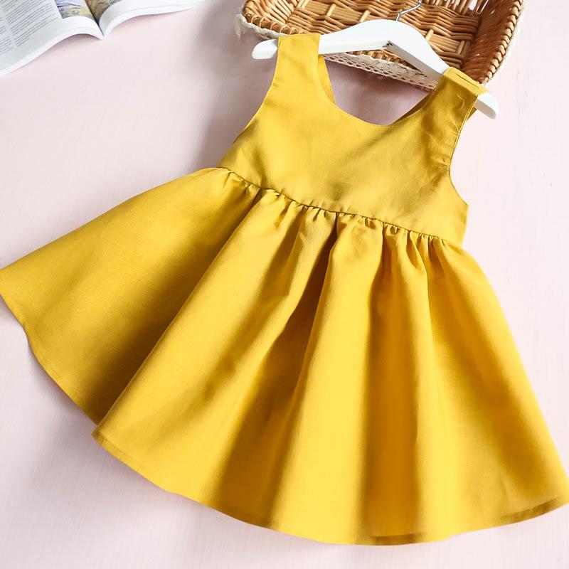 HTB1s4zqRXXXXXcqaFXXq6xXFXXXX - Hurave Summer 2017 New Cute Style Fashion Sleeveless Girls Bow Dress Girl Clothing For Children Cute Dresses Vestidos