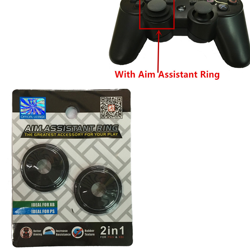 For Sony Playstation 4 PS4 Slim Pro PS3 Xbox one Better Aiming Increase 2 in 1 Durable Silicone Rubber Soft Aim Assistant Ring