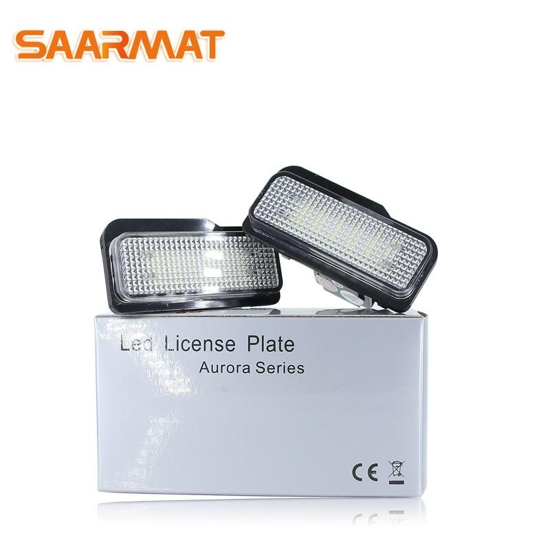 LED CANBUS Aucune Erreur de Plaque D'immatriculation ampoule Pour Mercedes-Benz W203 5D W211 W219 la Plaque d'immatriculation de Voiture pas Hyper Flash Blanc 12 v