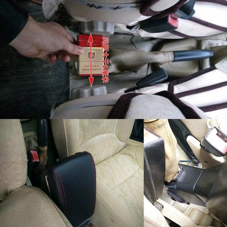 Para Ford Focus 2 MK2 2009-2012 Apoyabrazos Caja de almacenamiento Coches Reposabrazos Central Gris