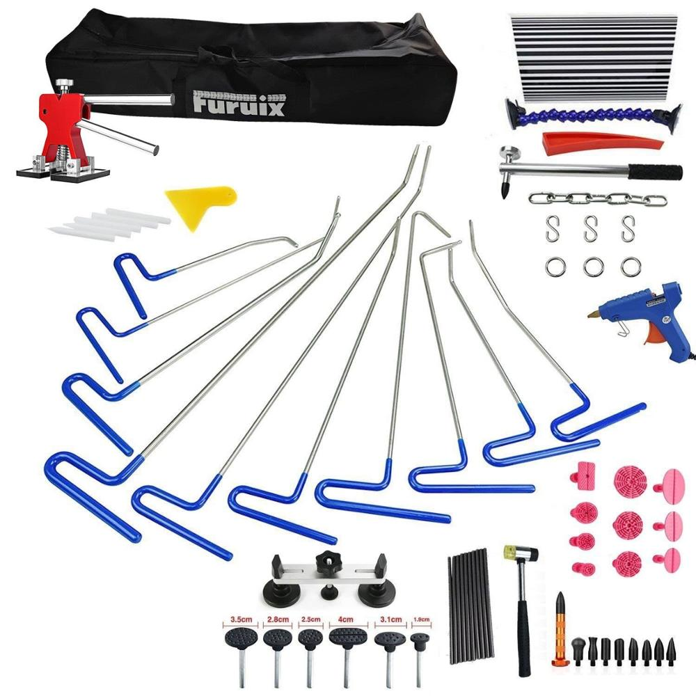 PDR Hook Tools Push Rod Paintless Dent Repair Tools PDR Kits Ding Hail Puller Set Ferramentas pdr hook tool set b4