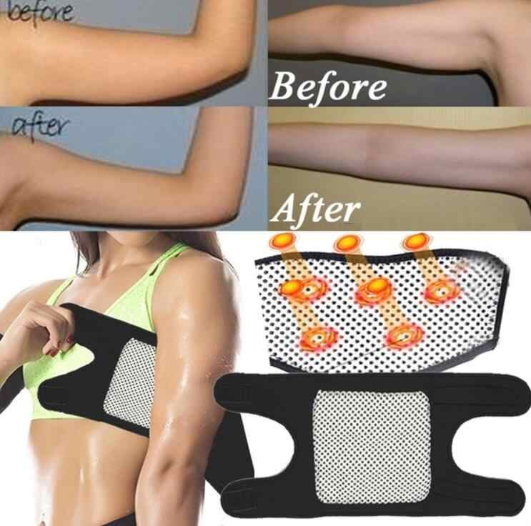 Magnetic Therapy Self-Heating Arm Elbow Brace Support Belt Anti Cellulite Tourmaline Pain Relief Weight Loss Strap Bandage