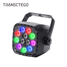 12 LED Stage Par Light Disco Light RGBW Auto Master DMX 512 Wall Lighting DJ Control for Xmas Wedding Kids Birthday Party Lamp