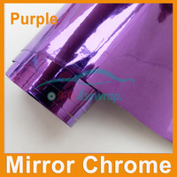 Envío de la alta calidad que envuelve la película Etiqueta Engomada Del Coche púrpura Del Cromo Del Espejo de vinilo con la burbuja de Aire libre del coche decoración