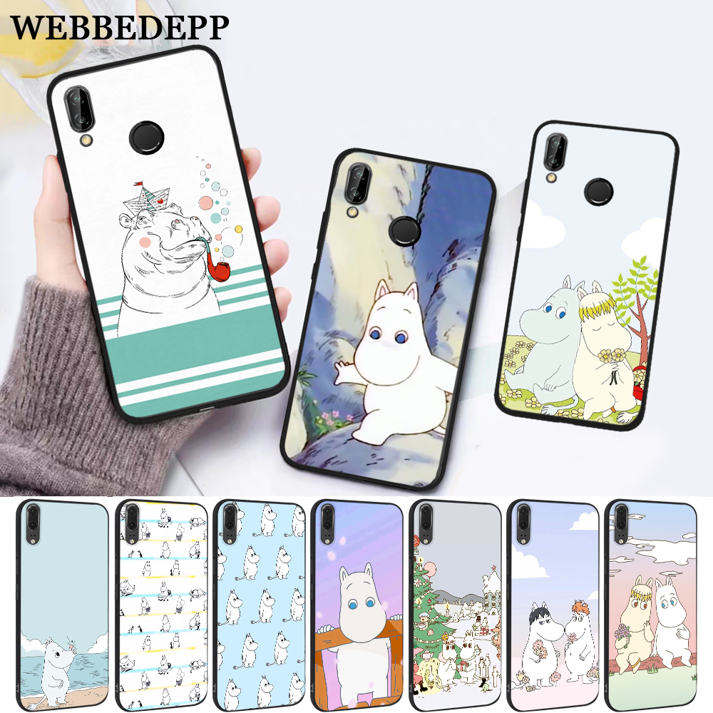 WEBBEDEPP Hippo Cute animal cartoon Silicone Case for Huawei P8 Lite 2015 2017 P9 2016 Mimi P10 P20 Pro P Smart 2019 P30 in Fitted Cases from Cellphones Telecommunications