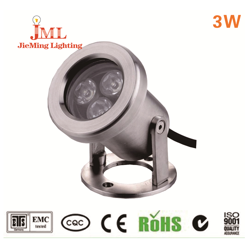 12 В RGB 3 Вт 24v1000lm пруды Одежда заплыва IP68 Водонепроницаемый открытый свет