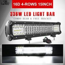 ĐỒNG ÁNH SÁNG Siêu Sáng 16D LED Bar 4 Hàng 264W 336W 480W 696W 1128W cho XE SUV 4X4 ATV Off Đường DẪN Lái Xe Làm Việc 12V 24V