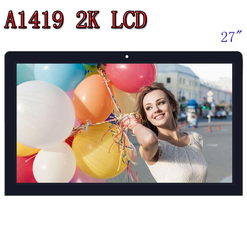 Original A1419 2K pantalla LCD con pantalla de vidrio Asamblea LM270WQ1 SD F1 F2 para iMac 27 a finales de 2012, 2013 ME088 ME089 MD095 EMC 2546 de 2639