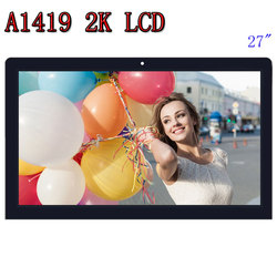 original A1419 2K LCD Screen with glass assembly LM270WQ1 SD F1 F2 For iMac 27 Late 2012 2013 ME088 ME089 MD095 EMC 2546 2639