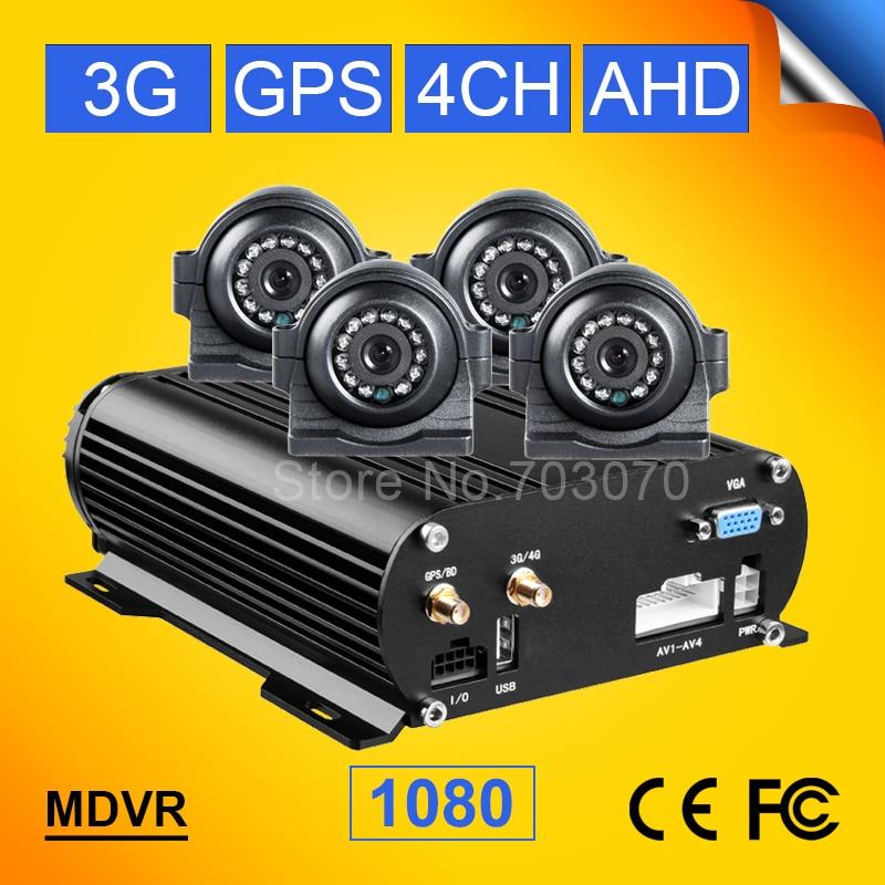 AHD 4CH HDD ավտոմեքենայի բջջային DVR- ն 3G - Ավտոմեքենաների էլեկտրոնիկա - Լուսանկար 1