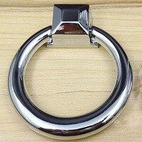62mm Shaky Drop Ring Furniture Knob Handle Shiny Silver Drawer Knob Pull Bright Chrome Dresser Cupboard