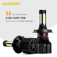 Auxmart H4 H7 H11 H13 9005 9006 COB 72W LED Car Headlight Bulb 6500K 8000LM Fog