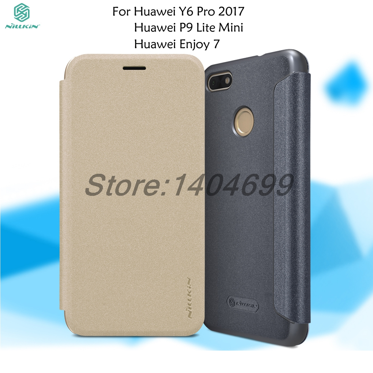 detailed look cf7f8 0db04 US $7.91 20% OFF|Nillkin Huawei Y6 Pro 2017 Case Huawei P9 Lite Mini Flip  Case Sparkle Series PU Leather Cover Case For Huawei Enjoy 7-in Flip Cases  ...