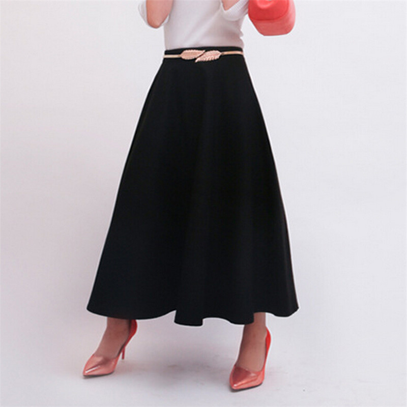747cd9eb2bc2 Aliexpress.com : Buy WKOUD 2017 Winter Skirts For Women Woolen A Line  Skirts High Waist Ankle Length Solid Long Skirts Bootcuts Casual Wear  DK6157 from ...