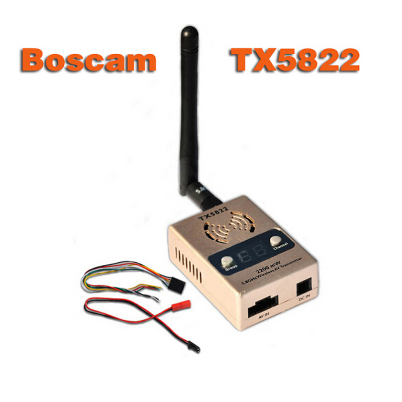 цена на Free Shipping Original Boscam TX5822 2200mv 5.8G 32CH Wireless AV Transmitter FPV Free shipping