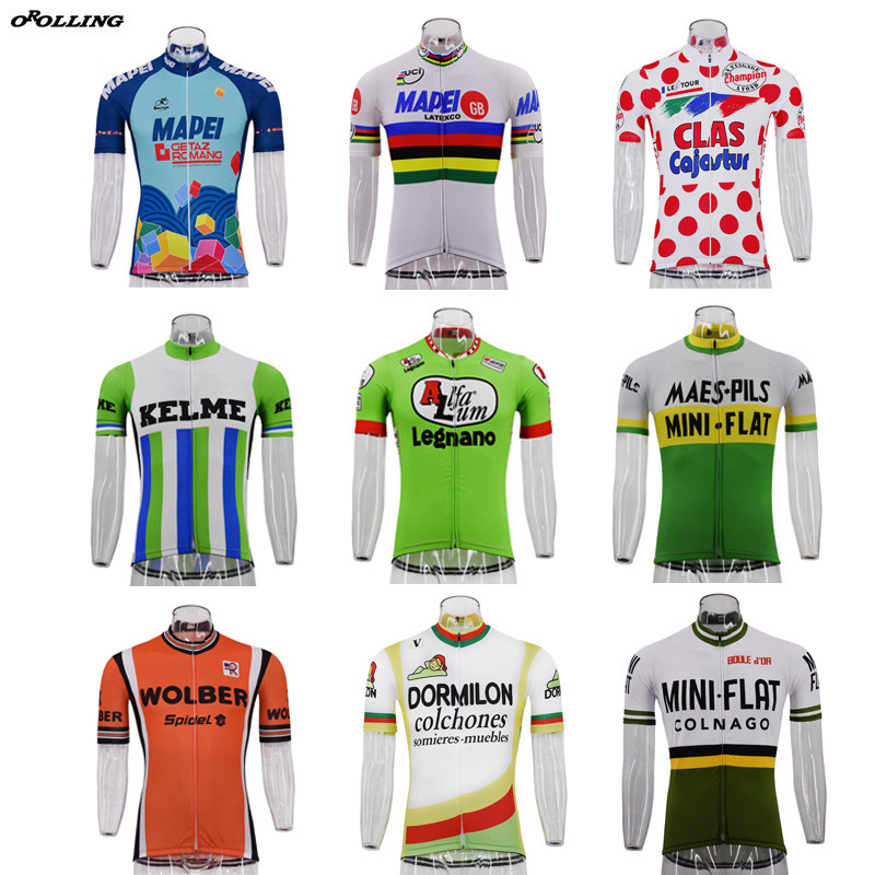 Multi Types Hot New Classical Retro Pro Team Maillot Cycling Jersey Customized Orolling Tops