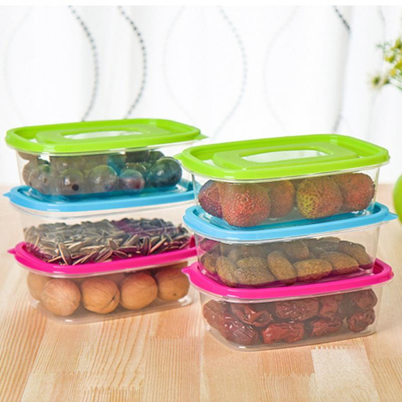 Food Container 650ml Plastic Food Container Crisper Refrigerator Vegetable Fruit Food Preservation Storage Box-in Storage Boxes u0026 Bins from Home u0026 Garden on ... & Food Container 650ml Plastic Food Container Crisper Refrigerator ...