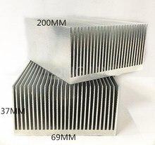 2 stück extrudierten aluminium-kühlkörper 200*69*37mm Computer gewidmet kühlkörper/feinzahnigen fin